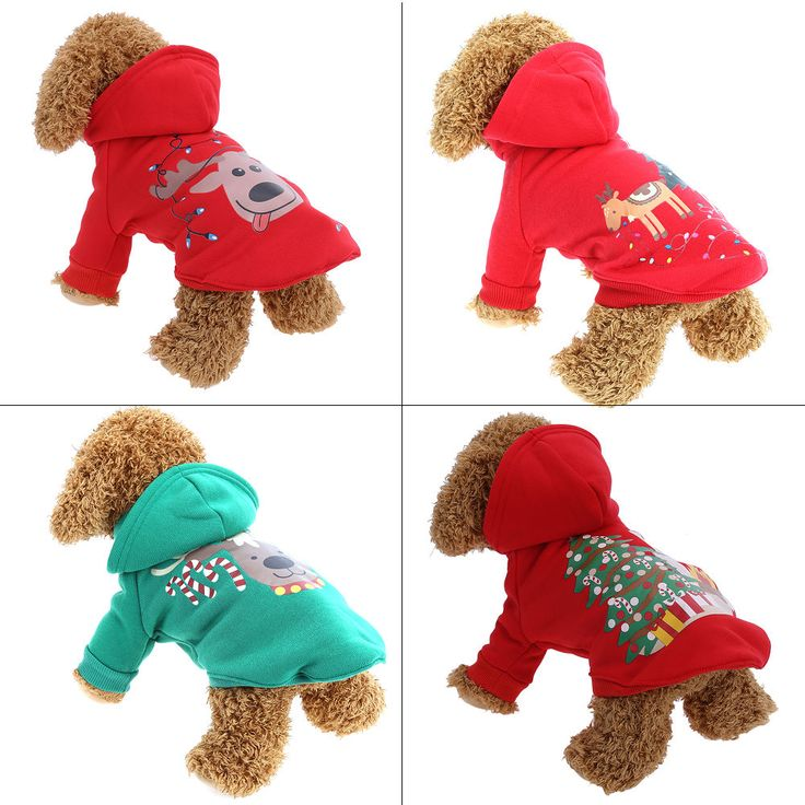 S-XL Christmas Dog Clothes Santa Costume Pet Dog Christmas Clothes Winter Coat Clothing Cute Puppy Outfit for Dog Plug Sizes #ChristmasOutfit