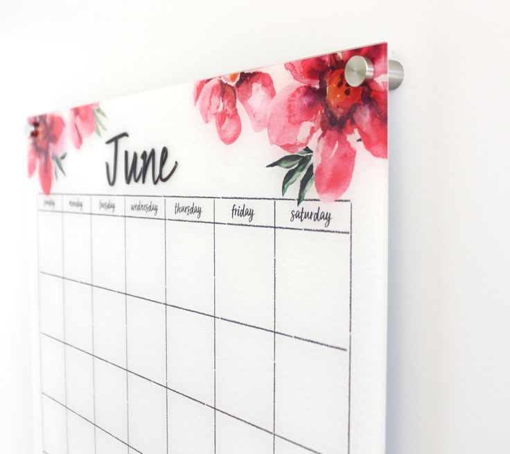 Acrylic Calendar -  Dry erase calendar - Lucite calendar - Magnetic calendar - Family calendar - Delightful Poppies by CalendarGirlCompany on Etsy https://www.etsy.com/listing/521439681/acrylic-calendar-dry-erase-calendar