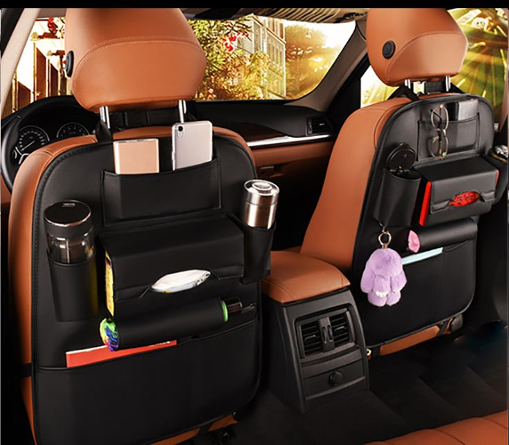 PU Leather - Car Seat Organizer Price: CA$ 24.50 & FREE Shipping  #Accessories