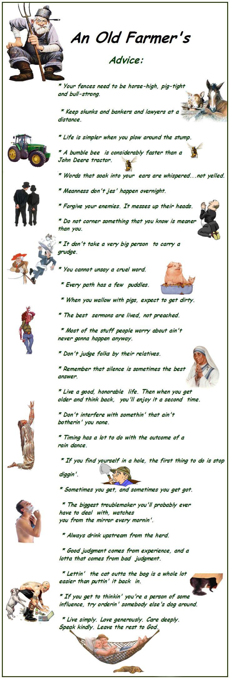 An old farmer's advice - Mastiz.net