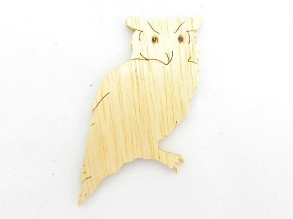 Owl, Owl Pin, Owl Magnet, Owl Cut Out, Raptor, Wood Owl, Wooden Owl, Wise Bird, Barnyard Owl, Barn Owl, Nocturnal Bird, Owl Lover