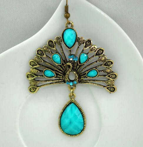 Retro-charm-peacock-drop-hangging-dangle-earrings-crystal-Chandelier-eardrop