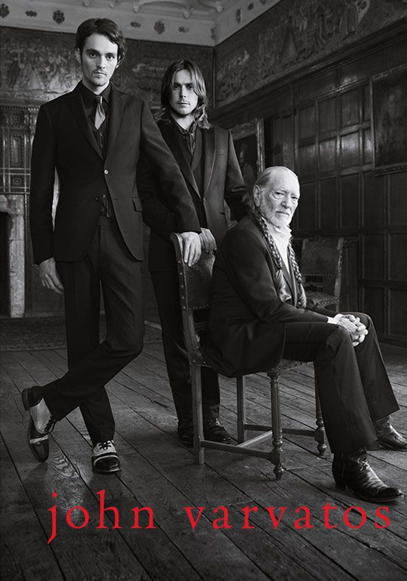 Willie Nelson and his sons for John Varvatos FW 2013 2014 by Danny Clinch l #fashion #menswear