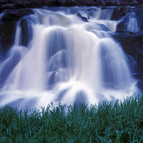 Waterfall and Grass, Little Salmon River, Idaho