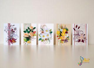 Quilling cards (7.4 cm - 10.5 cm )