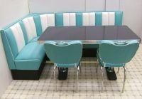 Retro Furniture Diner Booth - Hollywood Corner Set - 130 x 210