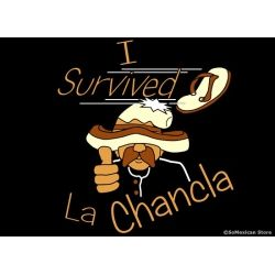 Funny Mexican T-Shirts: The legendary chancla, it never needs to be reloaded!