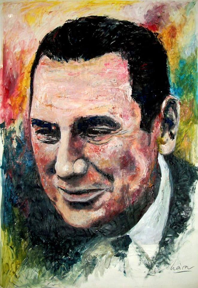 """""""Peron"""" Juan Domingo Peron - mixed media - 28x40 inches - Original art by Marcelo Neira"""