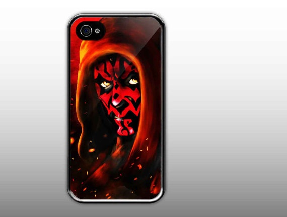iPhone 4/4s Case  Darth Maul Cool Face Star Wars  by NewCaseDesign, $15.50