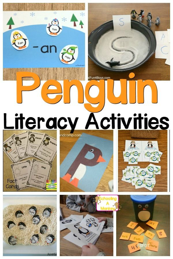 Winter time is great opportunity to teach with penguins! Penguin Literacy Activities for Preschool and Kindergarten!