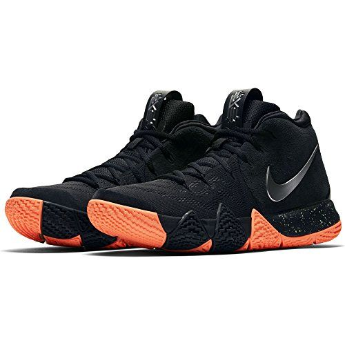 d26d3af376cd Beautiful NIKE Nike Mens Kyrie 4 Basketball Shoe Black Metallic Silver (9)  Sports Fitness online.   131.9  allfashiondress from top store