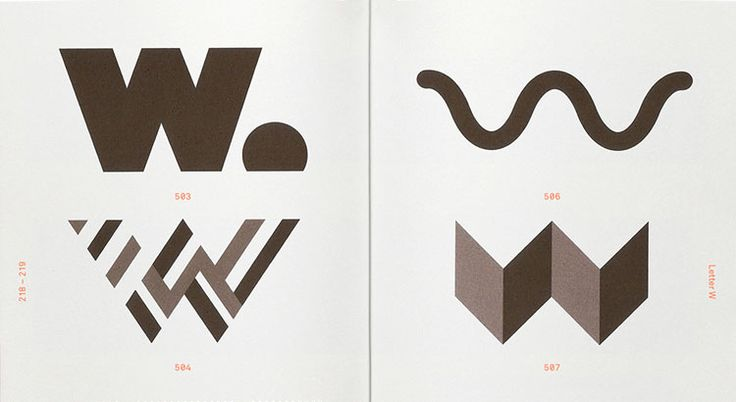 Alphabet Logo is the latest in Counter-Print's Trademarks & Symbols series, containing more than 500 logos created from letters of the alphabet.