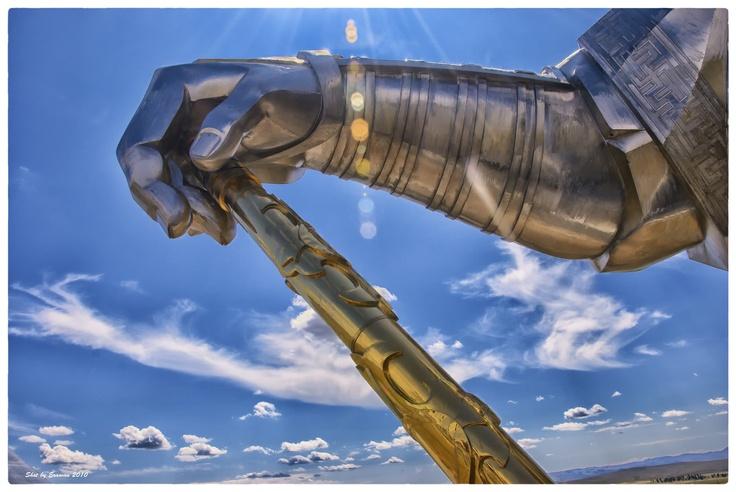 Gengis Khan's arm, Ulaan Baatar, Mongolia by Erawan BrokenTale