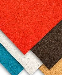 The reinforced self-adhesive self-healing cork rolls are available in the different colors - red blue black white and beige This sample pack contains