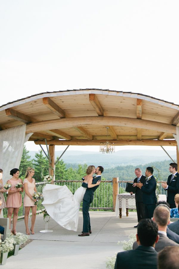 Stephanie and Alex's summer wedding at Le Belvedere in Wakefield, Quebec