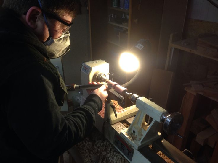 Working on the Jet Lathe