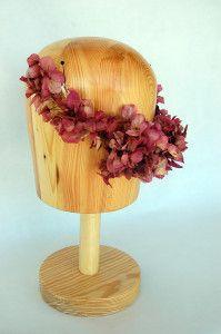 Media tiara de flor preservada en rosa antiguo Luisa Gala