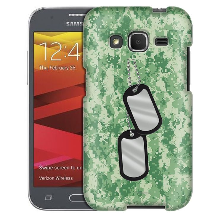 Samsung Galaxy Core Prime Nameplate on Digital Green Camouflage Case