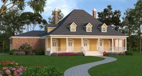 Reminiscent of the old South, this grand lady represents a look of the past but it is anything but. First of all, it is a high tech super energy saving home designed to cut heating and cooling cost in half without adding significant building cost.