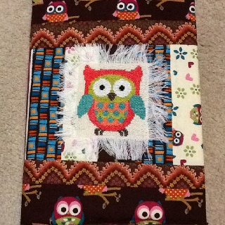 Owl journal cover made by Michelle Timperley 4/6/2012