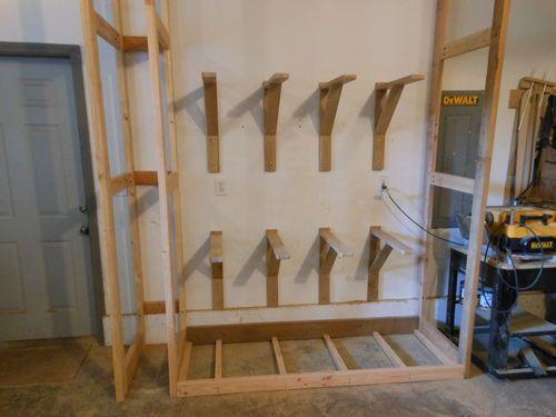 238 best lumber rack images on pinterest lumber rack for Vertical lumber storage rack