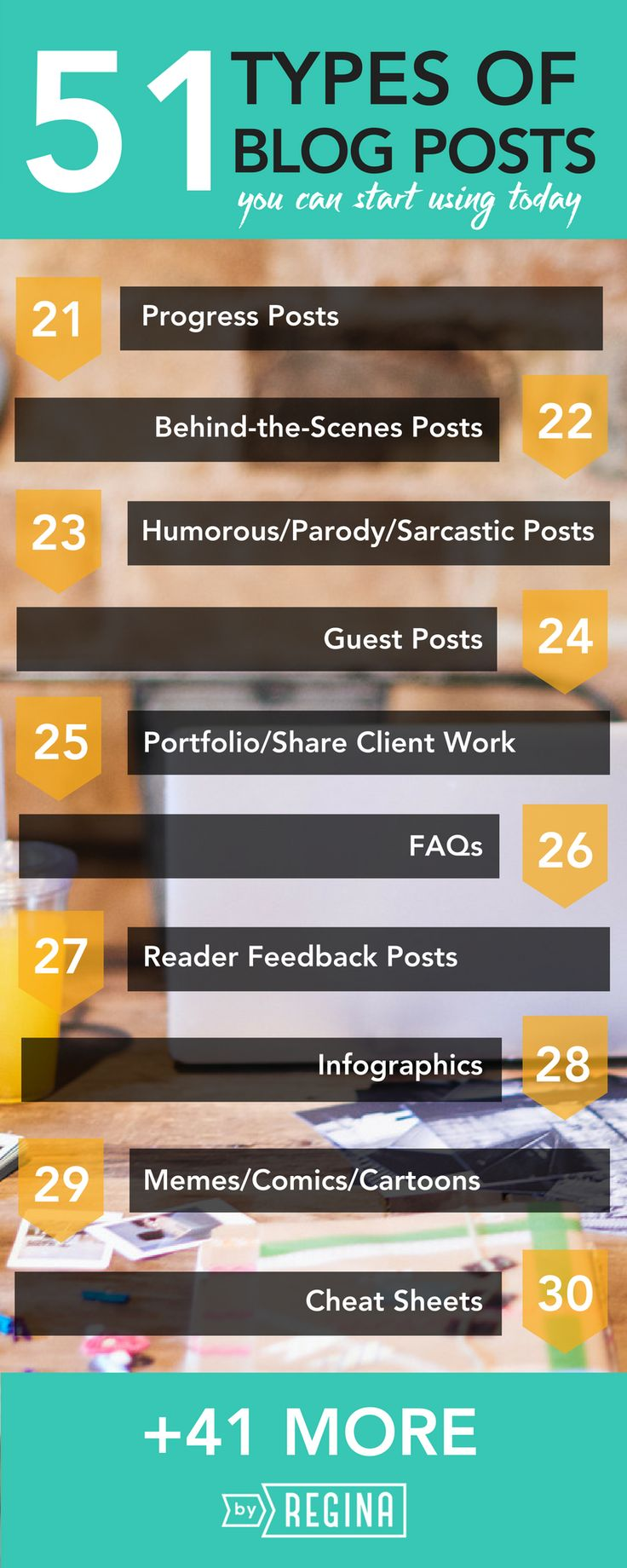 51 types of blog posts for #infopreneurs to give a try.