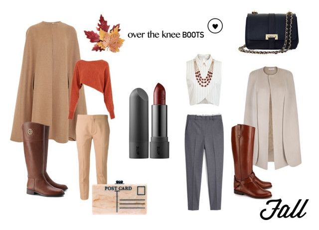 """fall style- knee boots"" by andrea-sara-maniga on Polyvore featuring moda, Oscar de la Renta, Tory Burch, Miss Selfridge, Crea Concept, MANGO, Chloé, Aspinal of London, Edie Parker e Croft & Barrow"