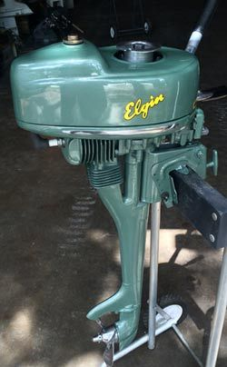 Vintage Elgin 2 hp, air cooled, sold through Sears. An economy motor that gave you everything you could ask for out of any little motor. So stoked to have one.