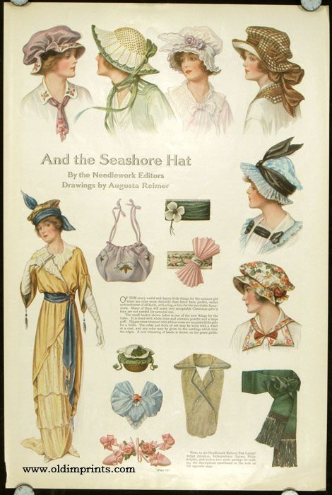 And the Seashore Hat. ca. 1914. The Ladies' Home Journal,