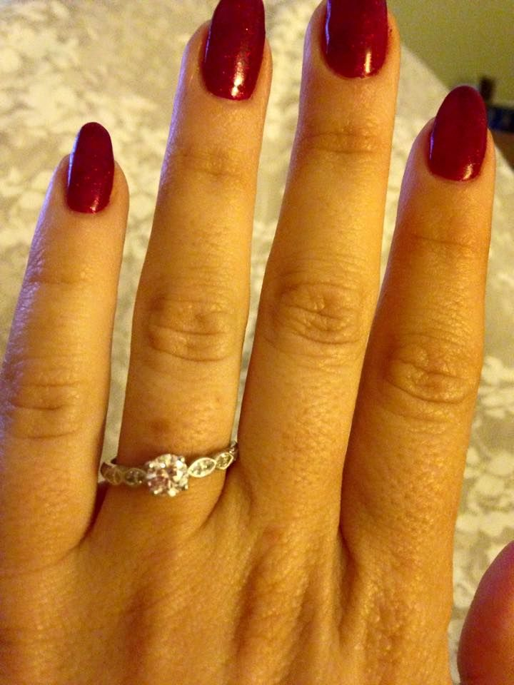 My gorgeous boyfriend proposed to me on our 2 year anniversary, perfect fiancé perfect ring