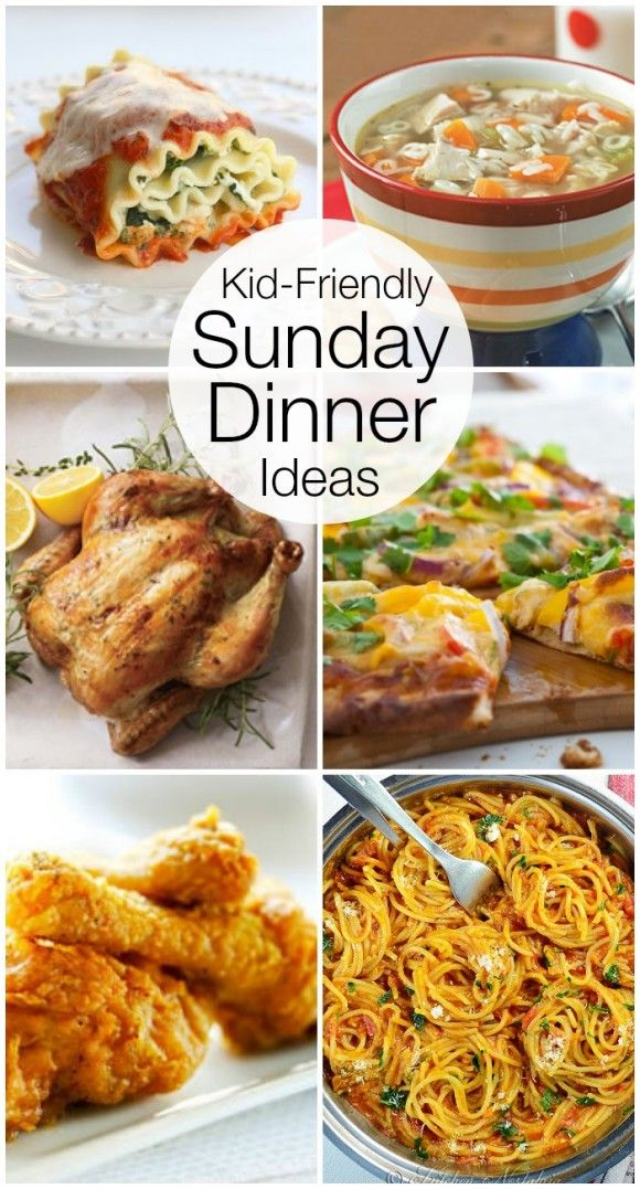 Looking for some kids-friendly recipe ideas for a Sunday dinner? Check out this collection. | CatchMyParty.com
