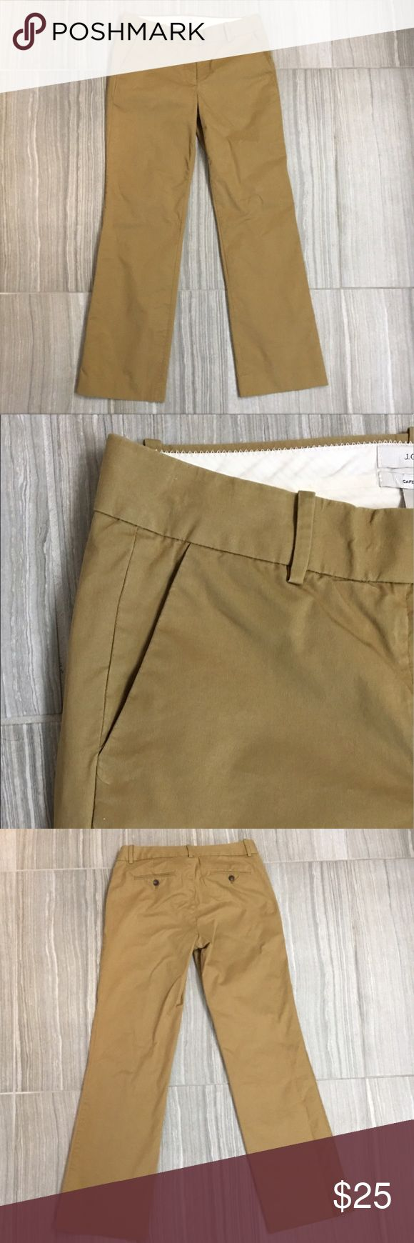 """J Crew Cafe Trouser Size 4 J Crew Cafe Trouser-Size 4. Excellent used condition. No holes, marks, stains, rips or tears. 32"""" inseam. 9"""" rise. 9 1/4"""" wide at ankle. J. Crew Pants"""