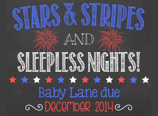 This patriotic pregnancy announcement is classic and simple to do!