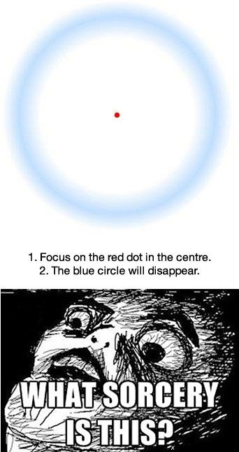 Red dot optical illusion