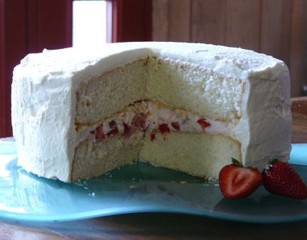 Vietnamese Style Strawberry & Cream cake frosting- for that coconut sponge cake that I already pinned?