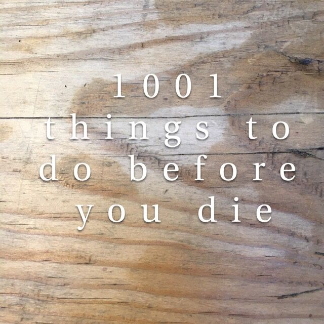 1001 things to do before you die – Snapshot