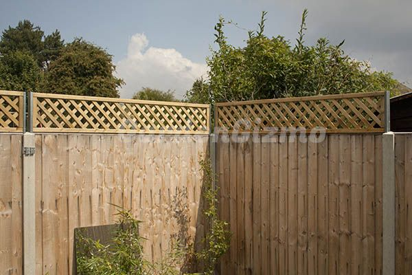how to put lattice on a fence 2