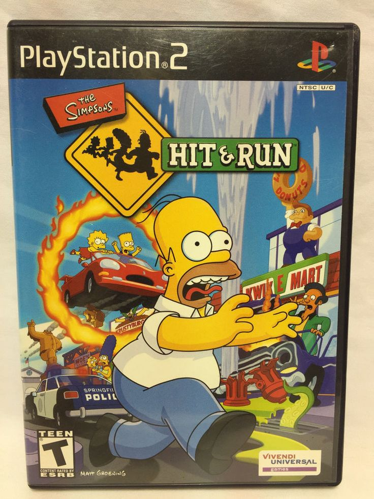 PS2 Simpsons Hit and Run Complete with manual Playstation 2 Ships Fast!!