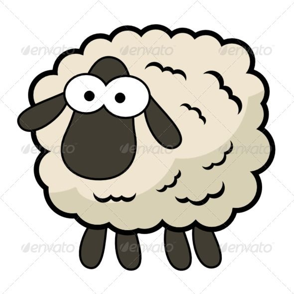 Cartoon Sheep by qubodup Cute cartoon sheep made for unreleased mobile game. Dark skin, slightly brownish wool, huge eyes, legs: yes. Get a fitting baa s