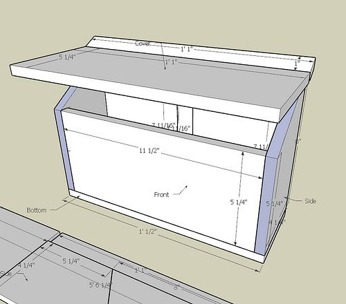 Took me a day and a half of sizing and optimizing, but now I can make this mailbox out of just one plank of 1x6 cedar that is 6 ft long. Why, that's exactly what I have in my garage! BTW, I consider this plan to be public-domain. If you want to build one out of this plan, or modify it then build one.. go right ahead. Send me a picture of yours when you are done! :-)