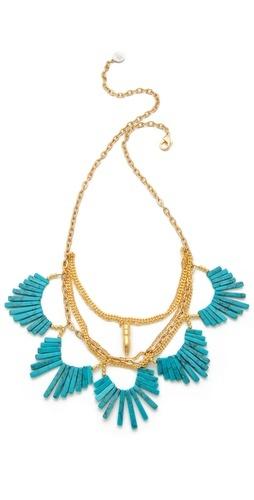Gemma Redux: Scalloped Stone, Statement Necklaces, Jewel, Gemma Redux, Gold Necklaces, Long Necklaces, Stones, Necklaces Addicted, Stone Necklace