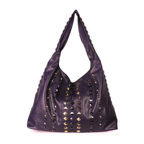 Minerva Collection Large Studded Hobo Fashion Shoulder Bag Purple  http://www.minervacollection.com/Minerva-Collection-Studded-Fashion-Shoulder/dp/B009Q4JHT6