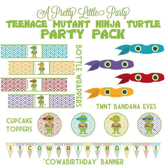 TMNT Party Pack  Teenage Mutant Ninja Turtles party supplies.