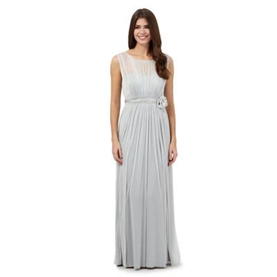Debut Silver glitter maxi dress- | Debenhams
