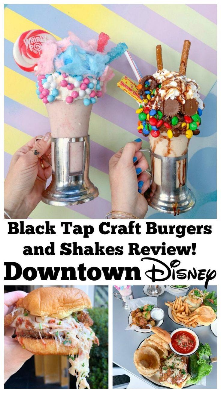 Ich teile meine Rezension von Black Tap Craft Burgers und Shakes im Downtown Disney …