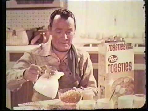 VINTAGE Roy Rogers Post Toasties CEREAL COMMERCIAL