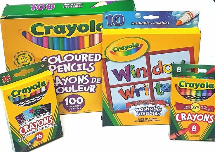 Lot of 4 Crayola Kids  Writing/Colouring Instruments - Crayons, Markers, Pencils | eBay