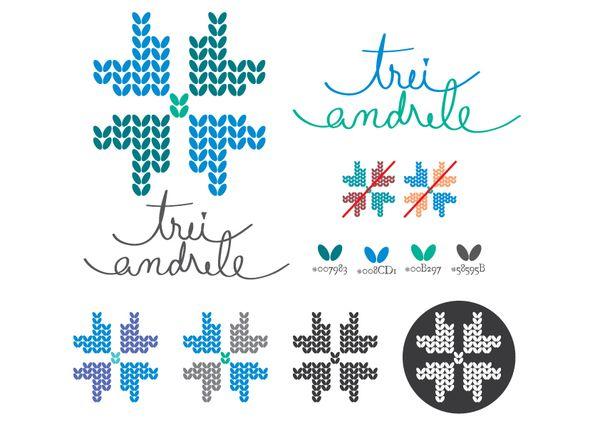 Three Knitting Needles Logo by Ralu Ciubotaru, via Behance