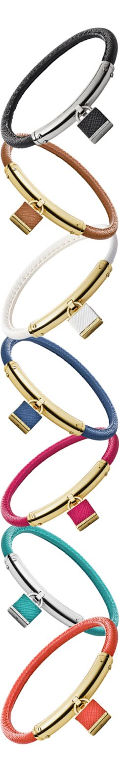Michael Kors Leather Padlock Bracelet