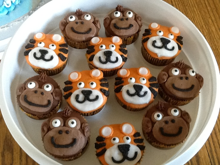 Tigers and monkeys for zoo party